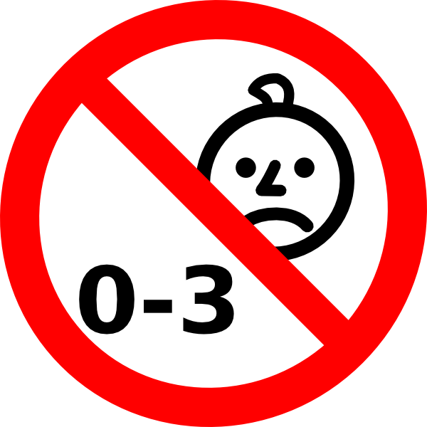 No children png. X not suitable for