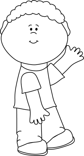 Speak clipart boy. Saying black and white