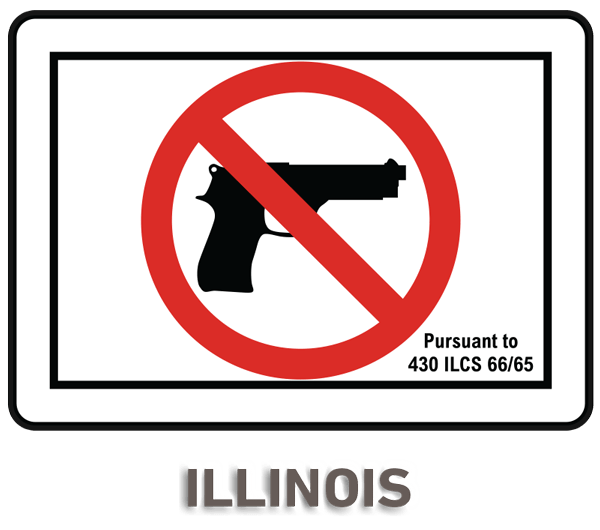 No gun png. Illinois firearms prohibited sign