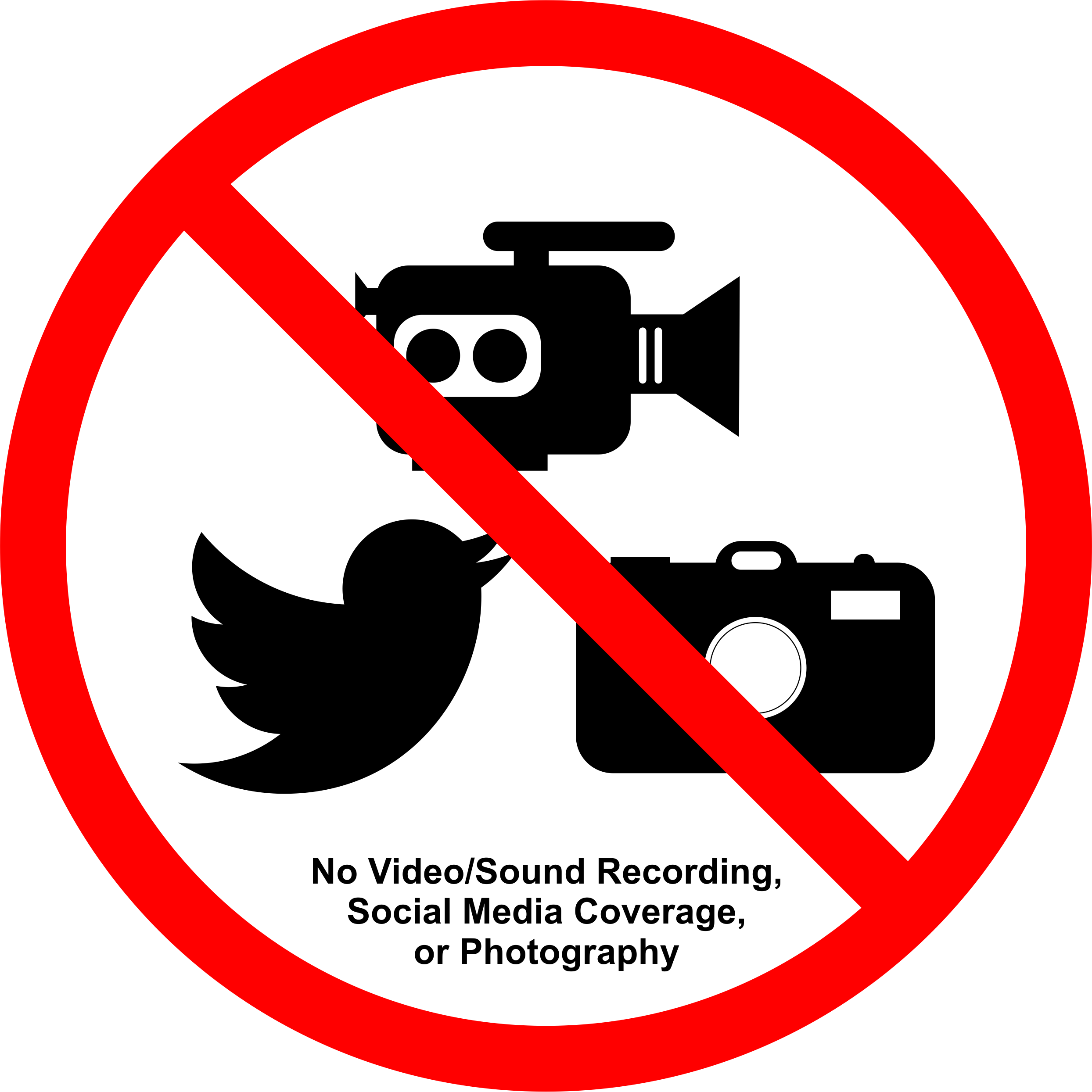No photography png. Permission signs for talks