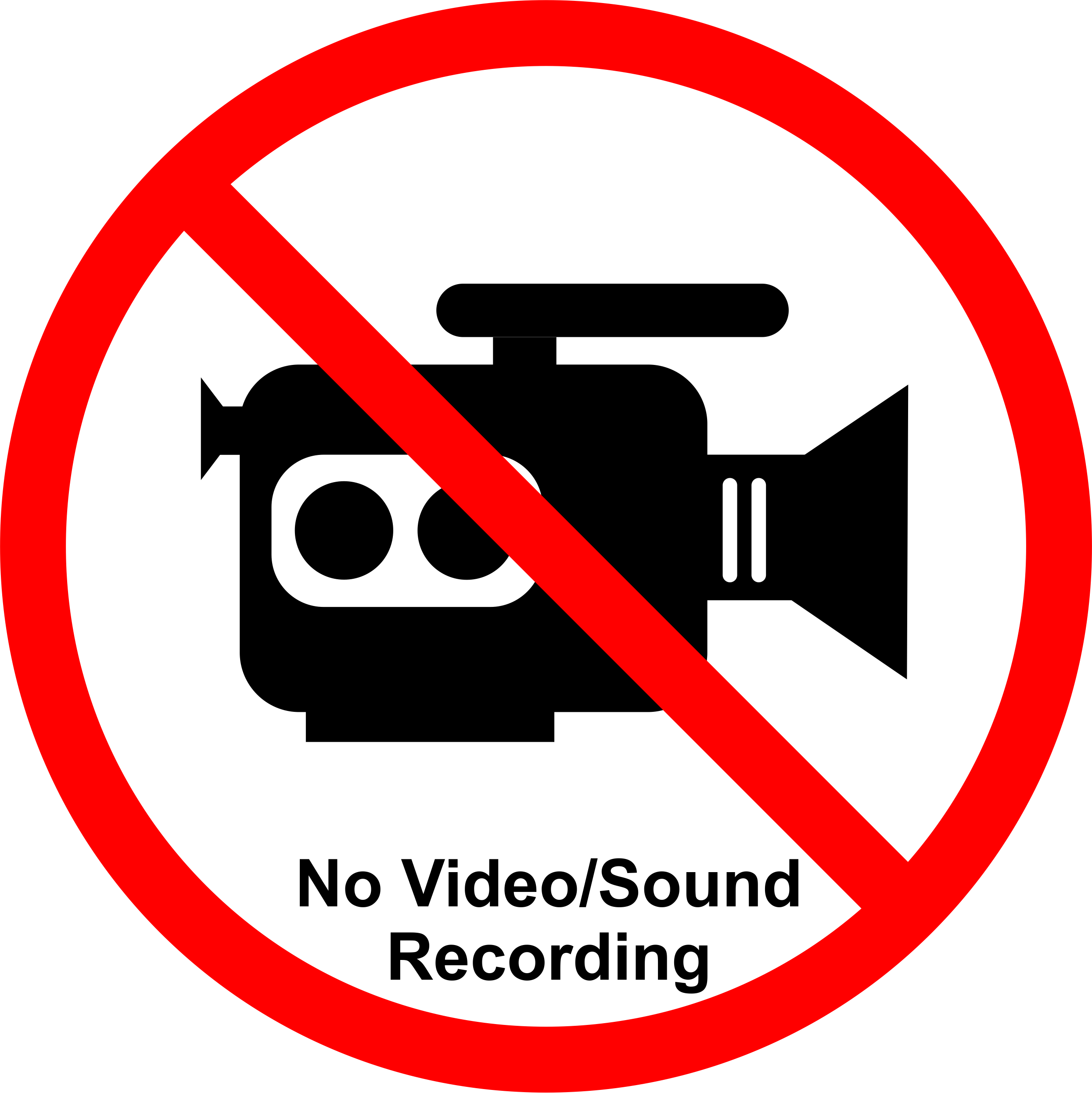 No recording png. Permission signs for talks