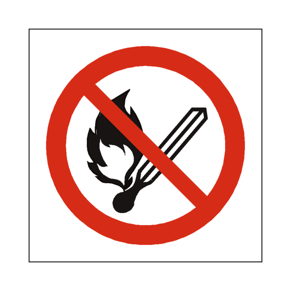 No symbol png. Open flame sign safety