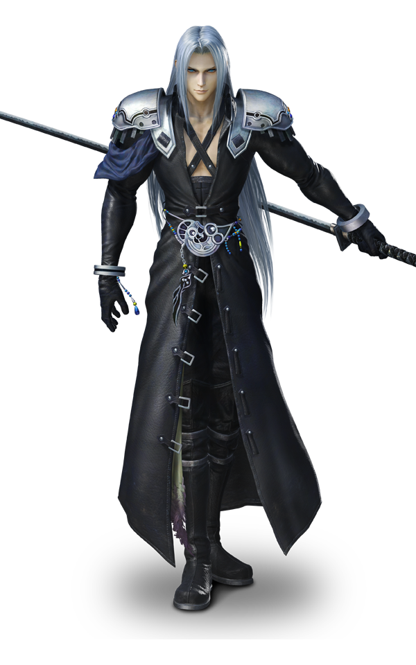 Noctis transparent cloud strife. Characters sephiroth