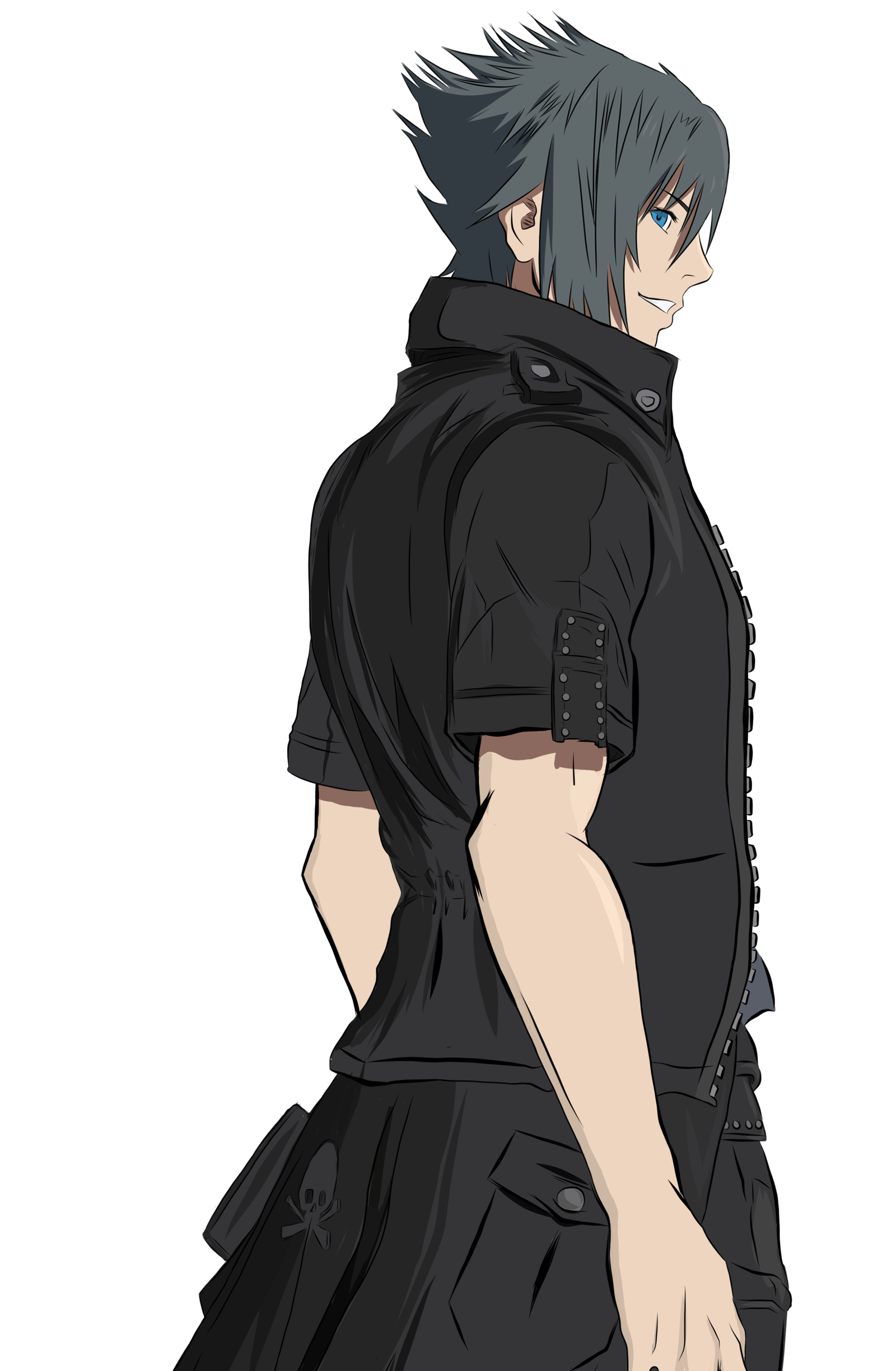 Noctis transparent kingdom hearts. Lucis caelum by bleuwing