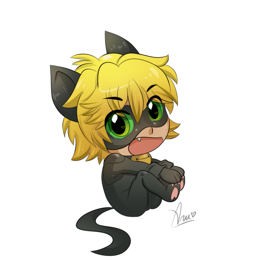 Noir drawing meaningful. Chat chibi by yk