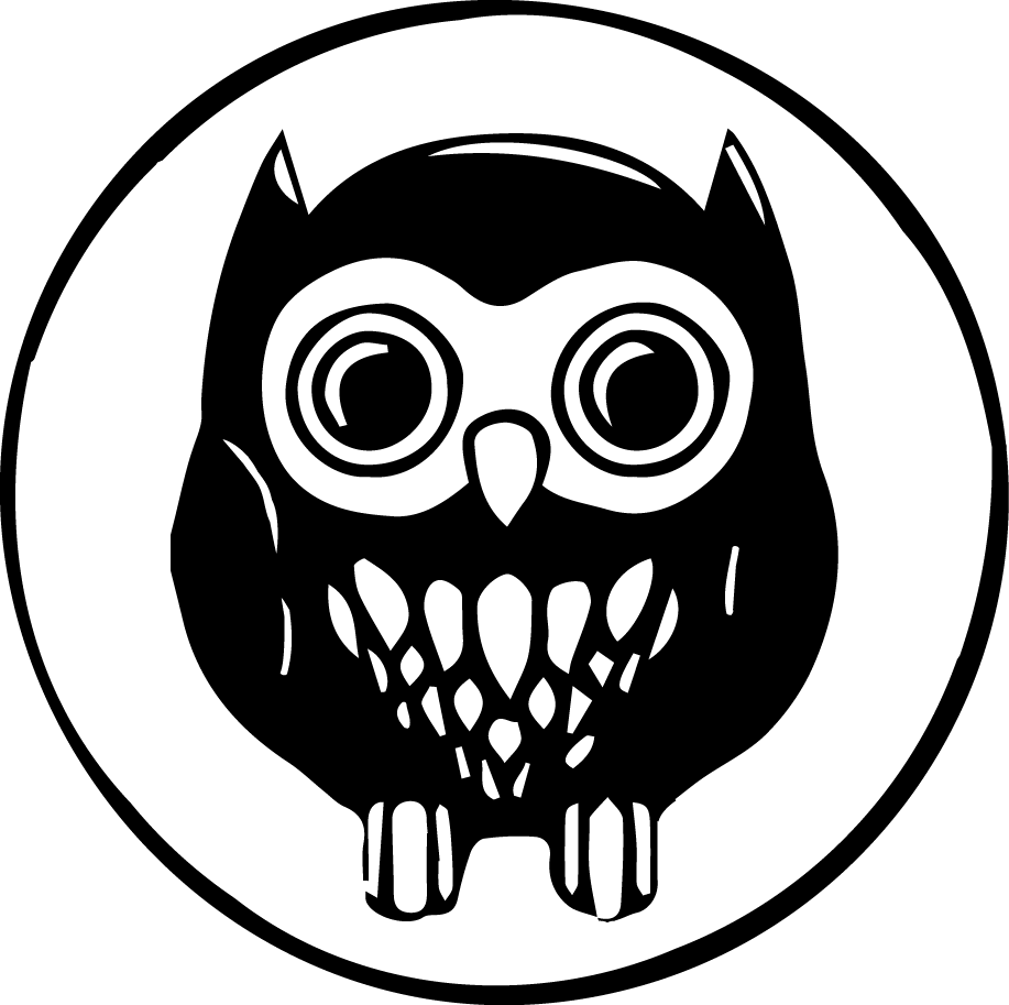 Noir drawing owl. Events the house