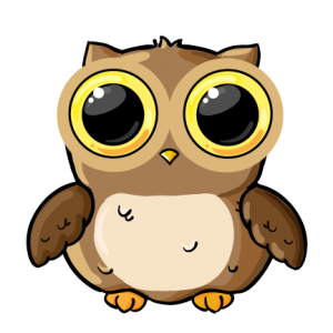 Noir drawing owl. Clipart cute free to