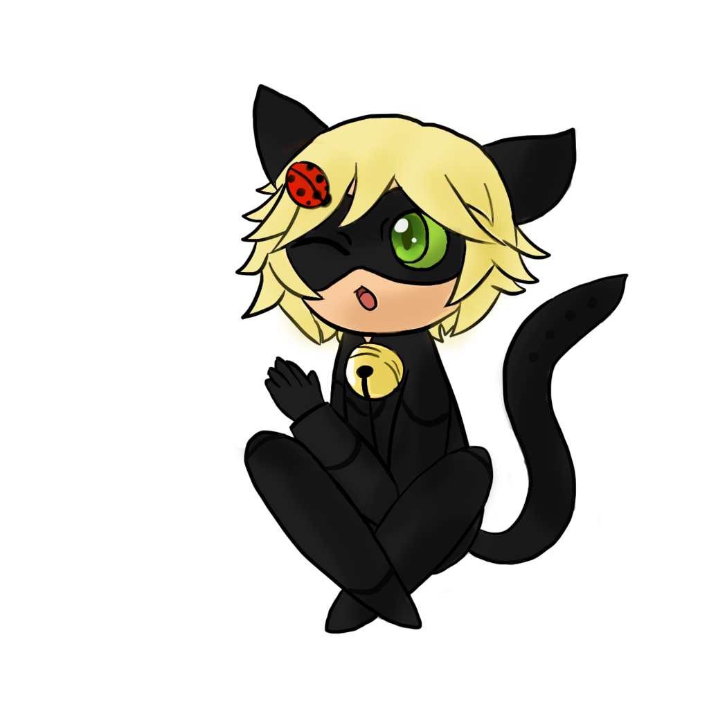 Noir drawing tail. At miraculous ladybug chat