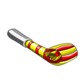 Noise maker png. Image striped noisemaker fishville