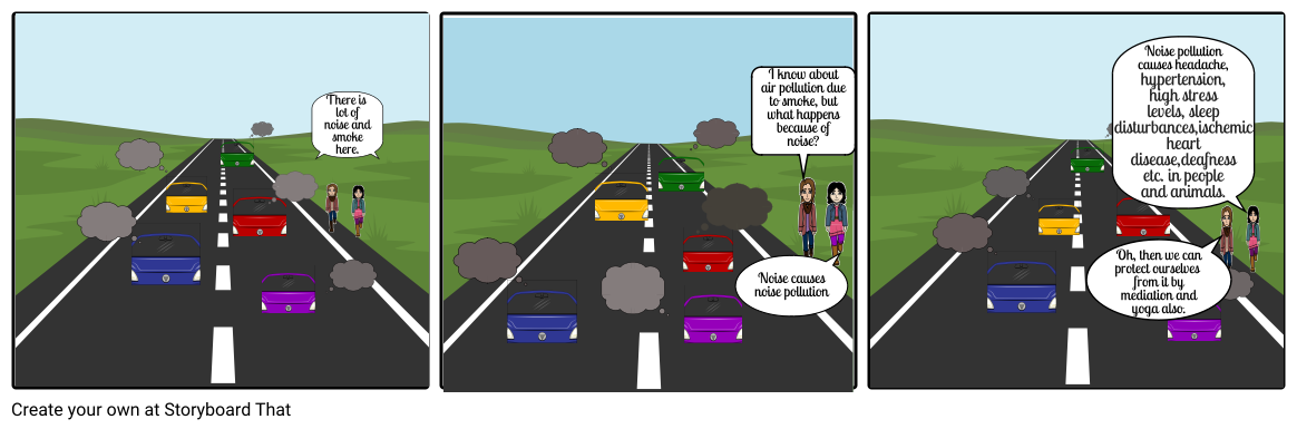 Noise vector air pollution. Storyboard by lalitha