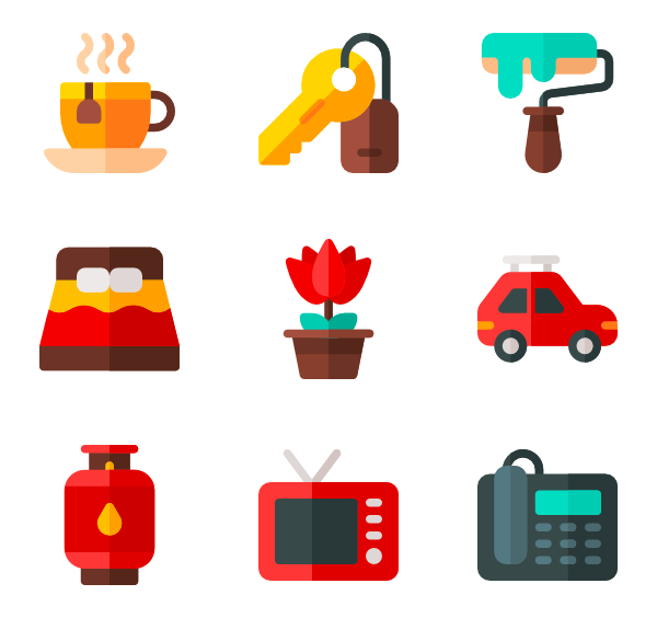 Noise vector apartment. Icons free home living