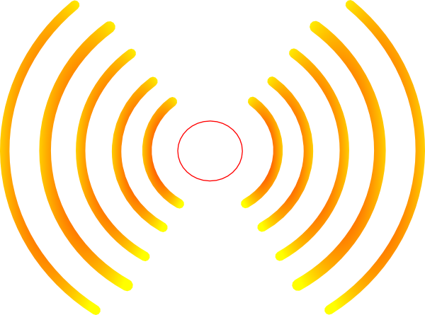 Noise vector wave. Radio waves hpg clip