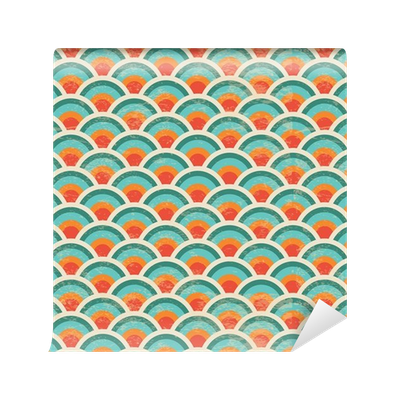Noise vector seamless. Geometric circles background grunge