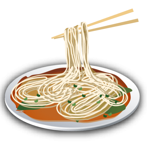 Chopsticks clipart plate rice. Of noodles transparent png