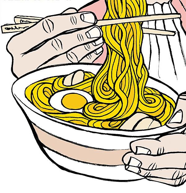 Noodle clipart ramen noodle. Sir causes an intestinal
