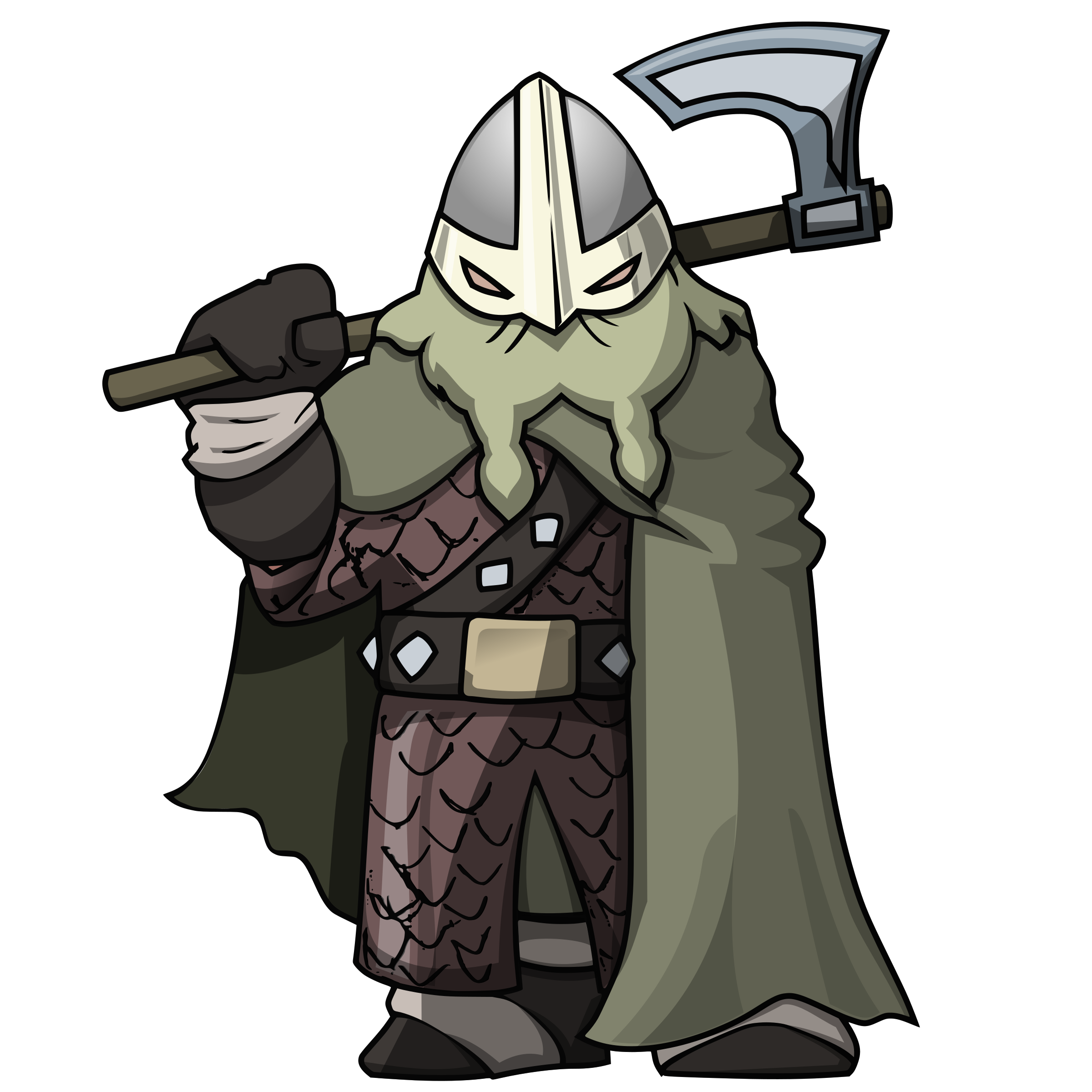 Vector viking warrior. Clipart attack the tower