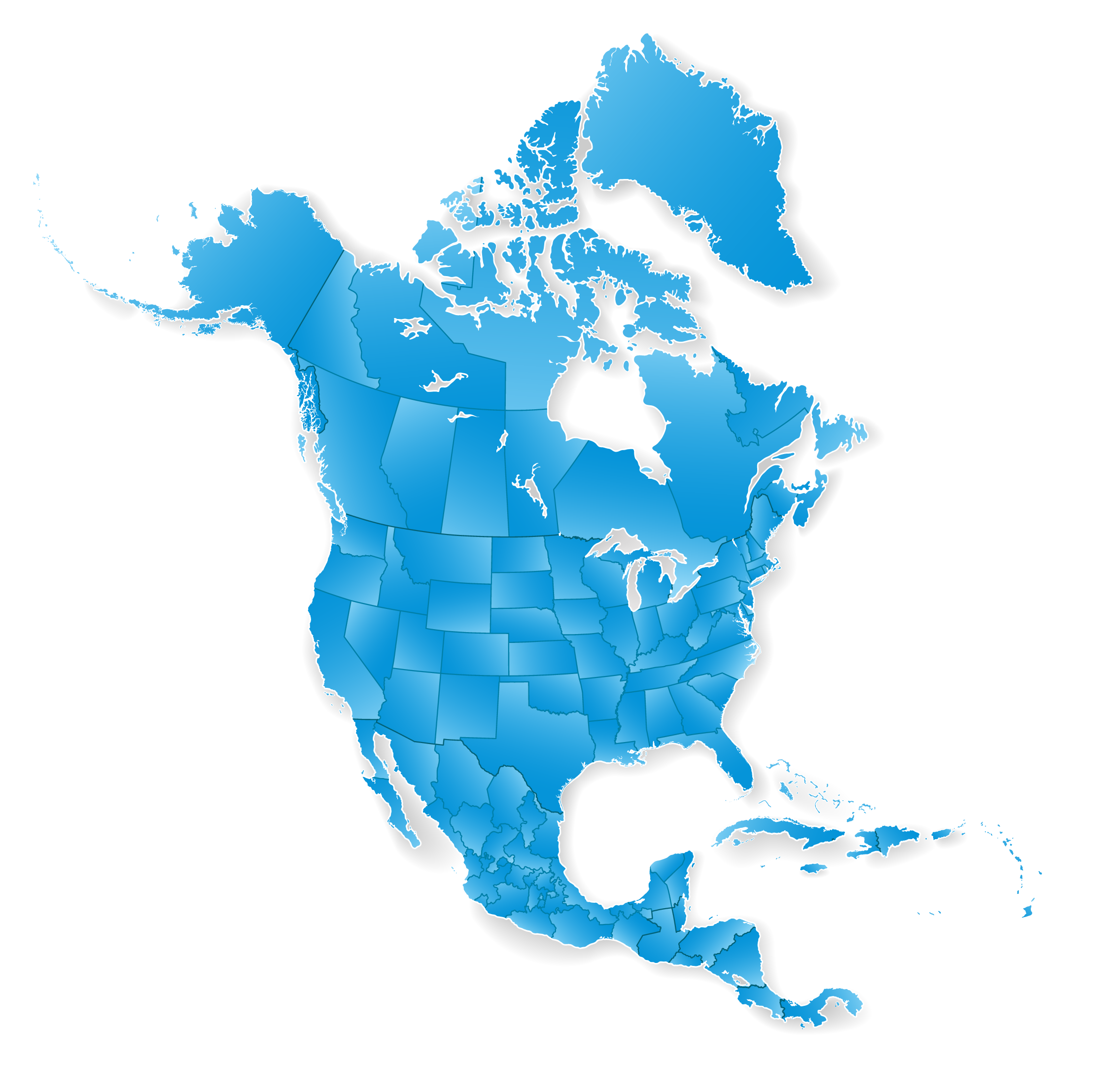 North america continent png. Zoom isolated map final