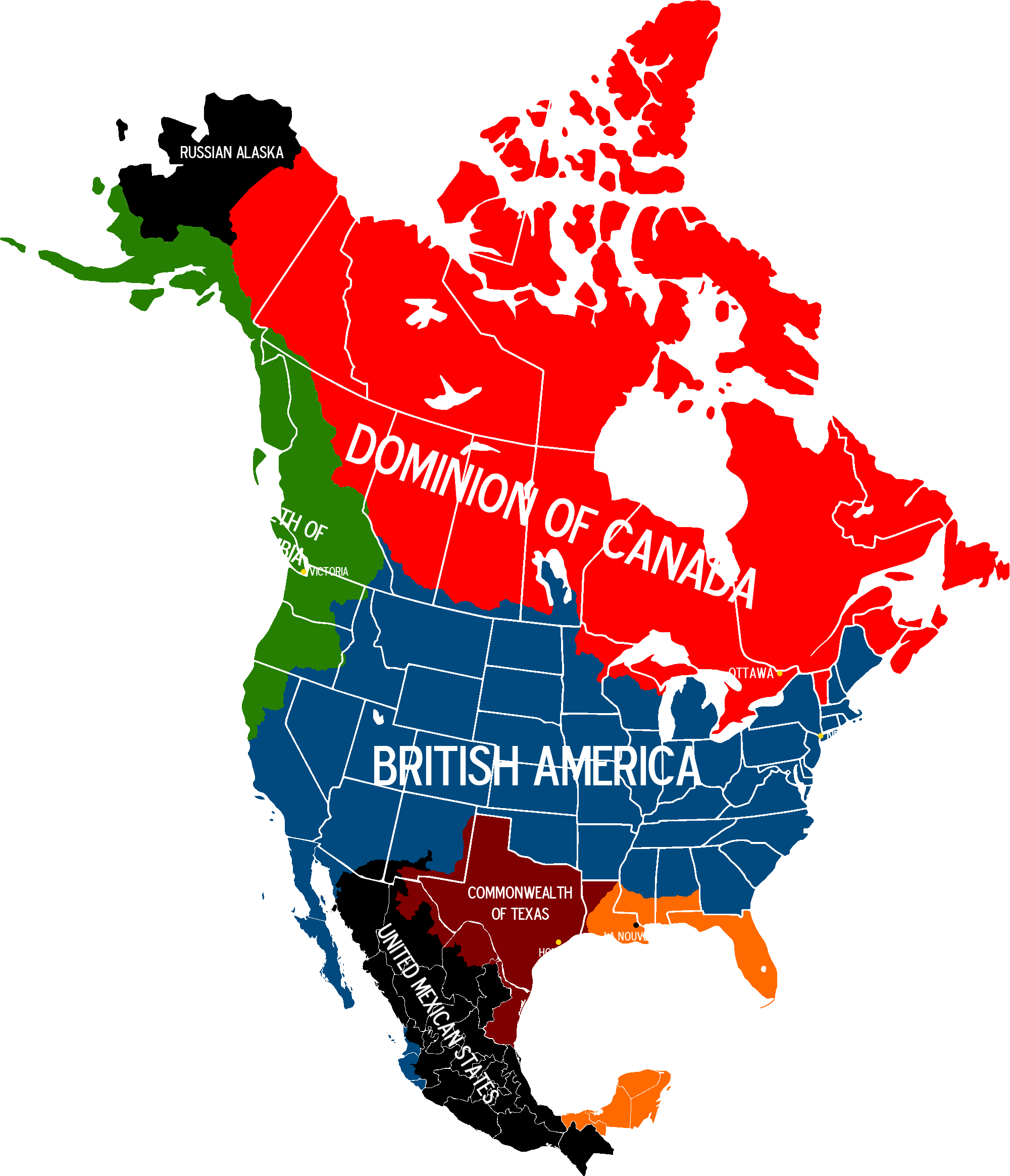 North america map png. Image of british with