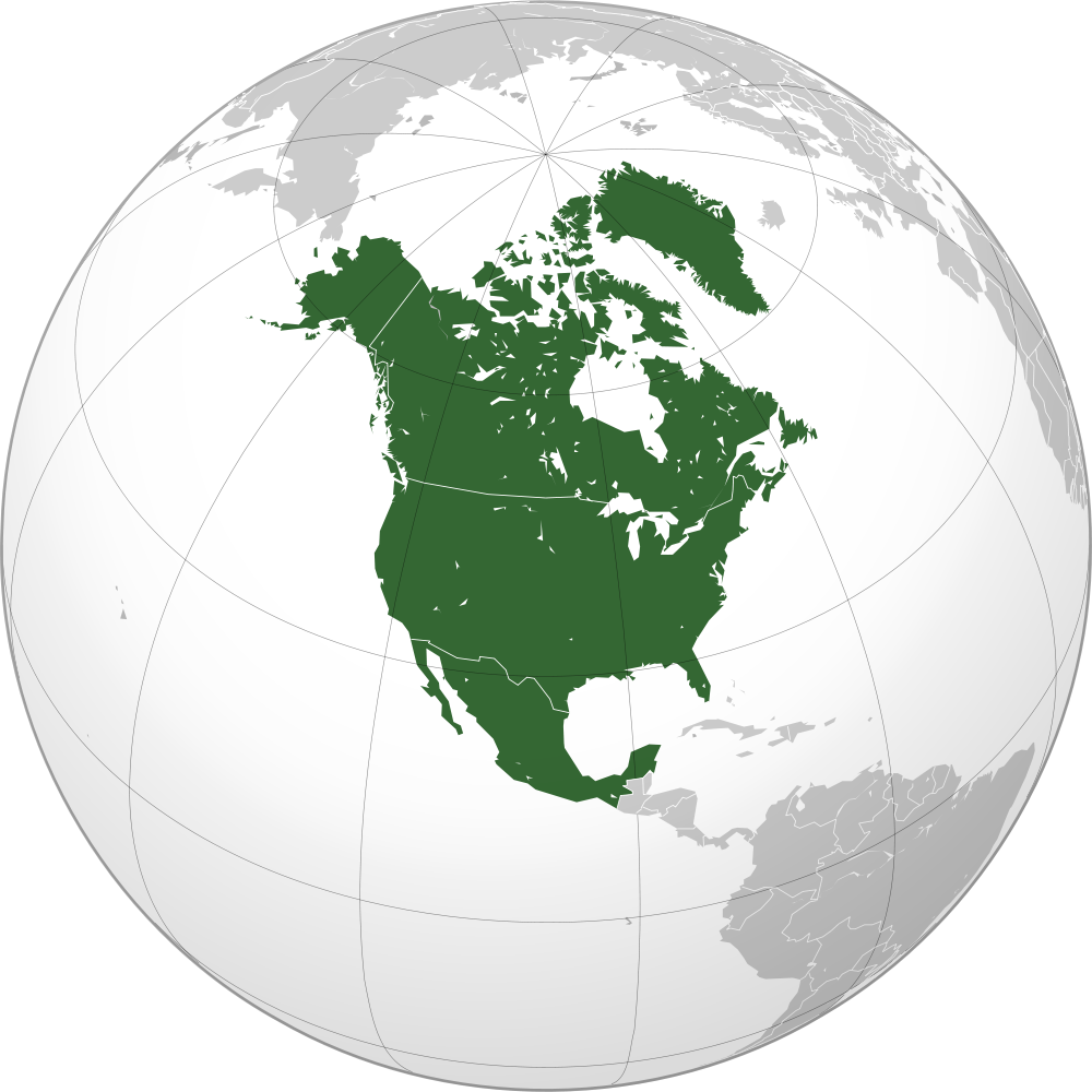 North america .png. Image orthographic projection png