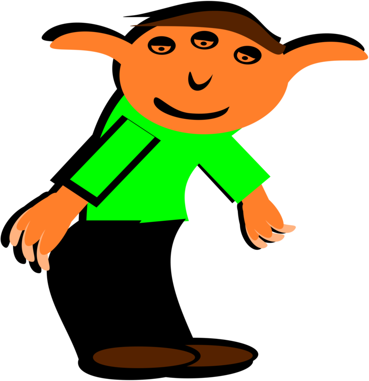 Shelf vector cartoon. Christmas elf the on