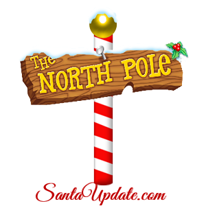 north pole clipart sign post