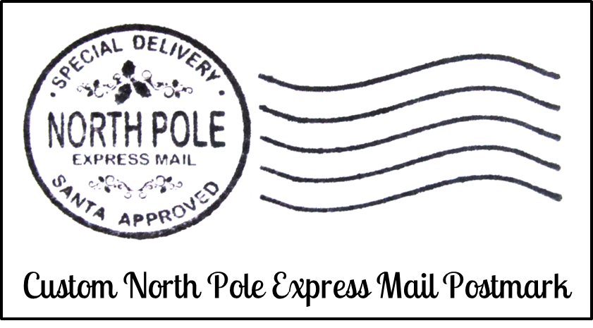 North pole stamp png. Postmarked mail april onthemarch