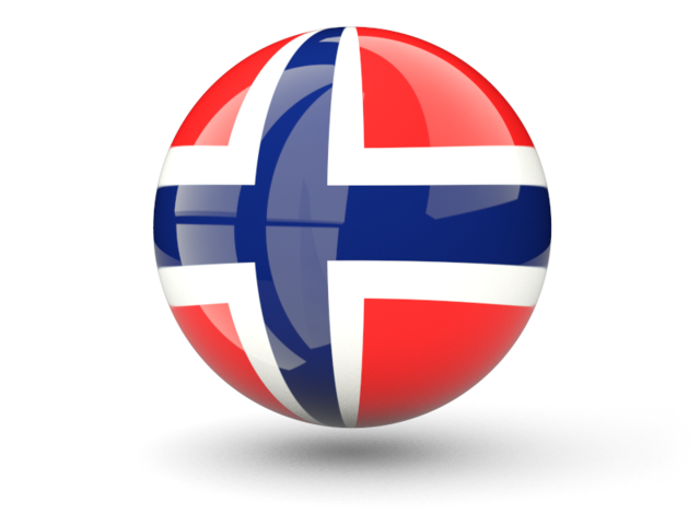 Norway flag png. Sphere icon illustration of