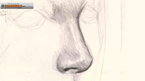 Nose clipart nose side view. Female drawing at getdrawings