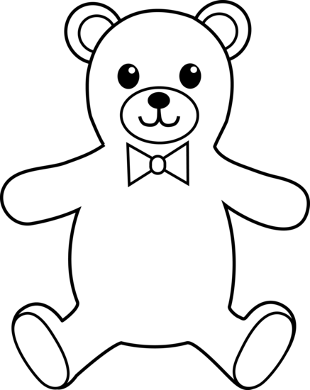Drawing pandas outline. Teddy bear clipart