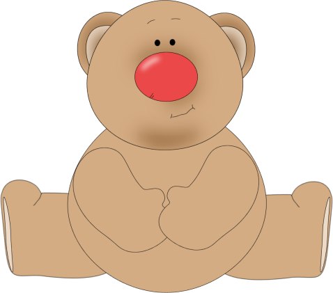 Bear nose . The nosed clipart royalty free