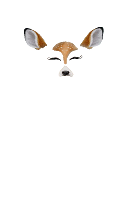 Deer ear nose trash. Snapchat png tumblr picture library stock