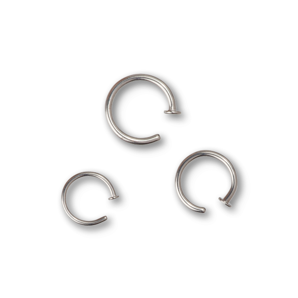 Nose ring png. Steel open