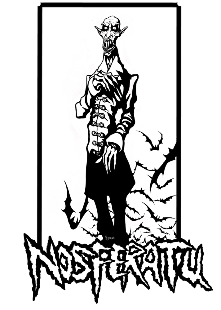 B n por urienyedel. Nosferatu drawing banner black and white download