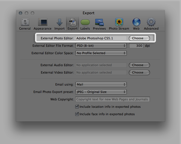 How to change a png color in photoshop. Aperture tips on working