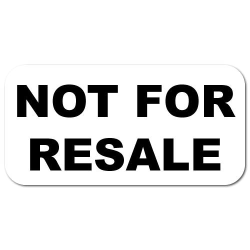 Not for sale png. Resale stickers