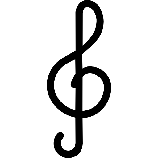 Nota sol png. Musical sign g clef