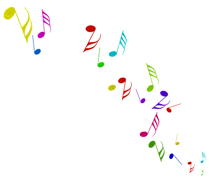 Notas musicales color blanco png. Image