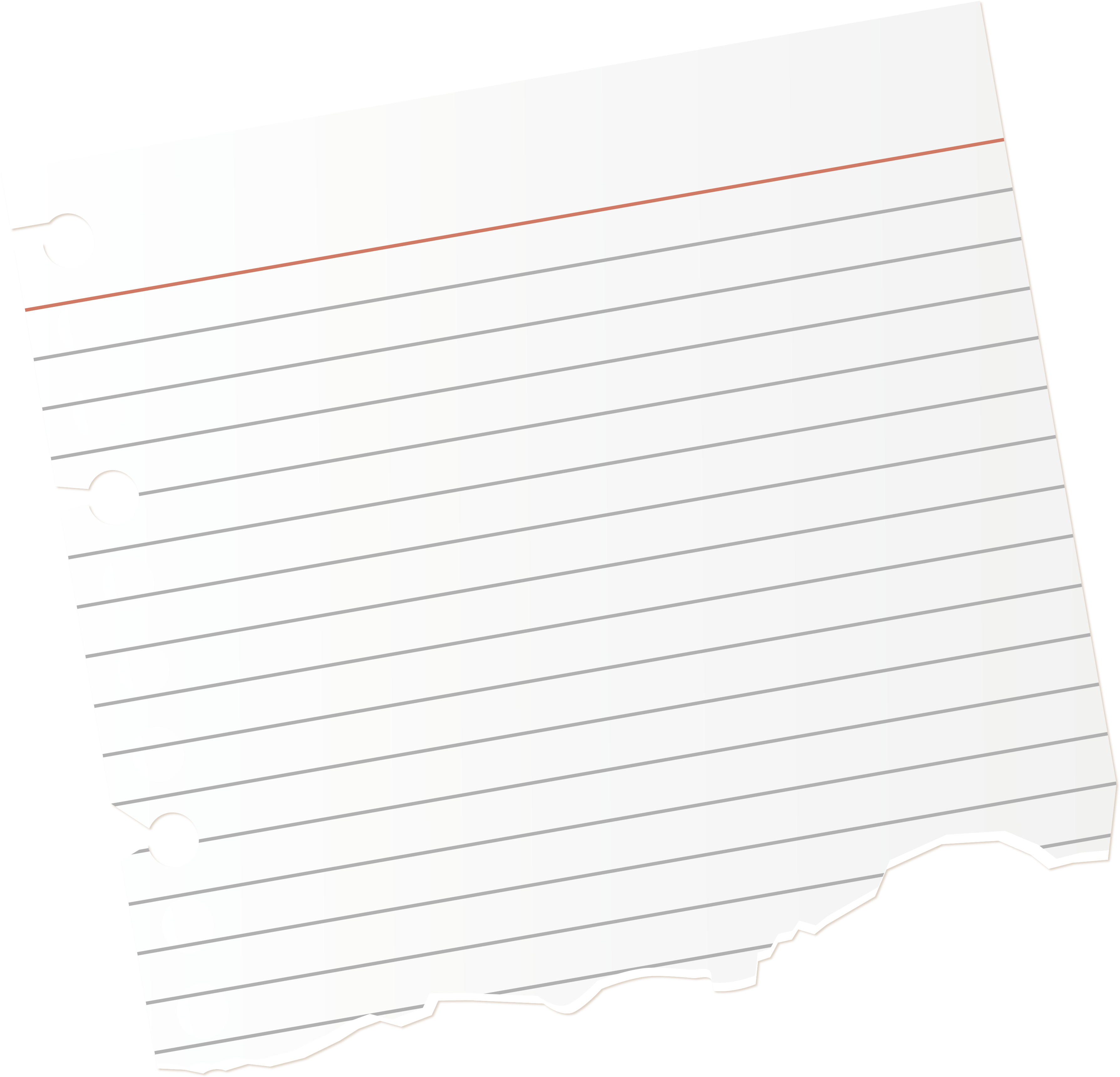 Torn notebook paper png. Download image with no
