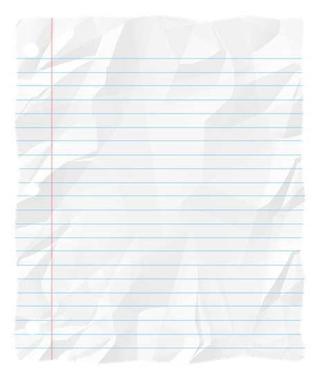notebook paper torn png