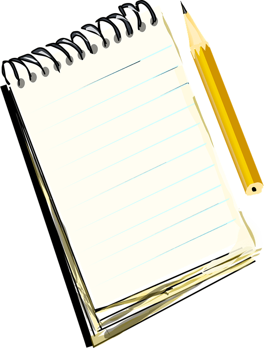 Notebook png. And pencil transparent stickpng