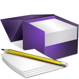 Note box png. Notes pencil bagg and
