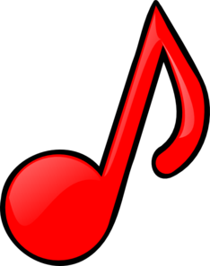 Music note clipart red. Notes panda free images
