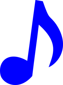 Blue music note png. Notes clipart