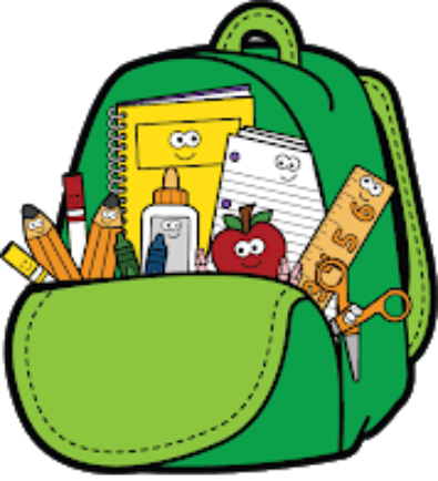 Note clipart attendance. Montello school backpack