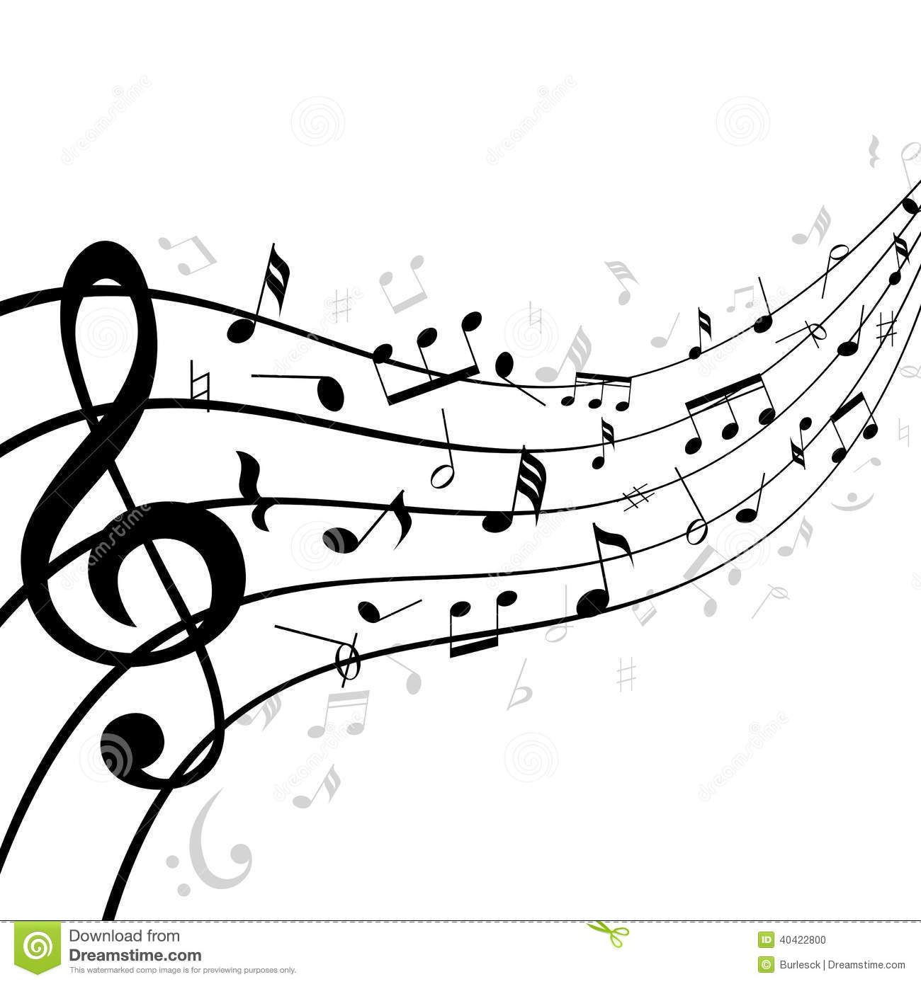 Note clipart music staff. Wavy panda free images
