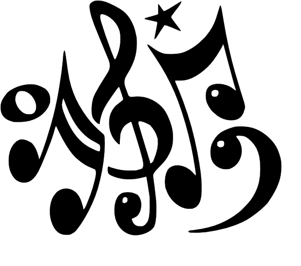 Sign clipart music. Musical notes clip art