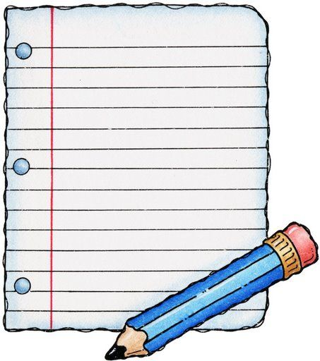 note clipart school papers