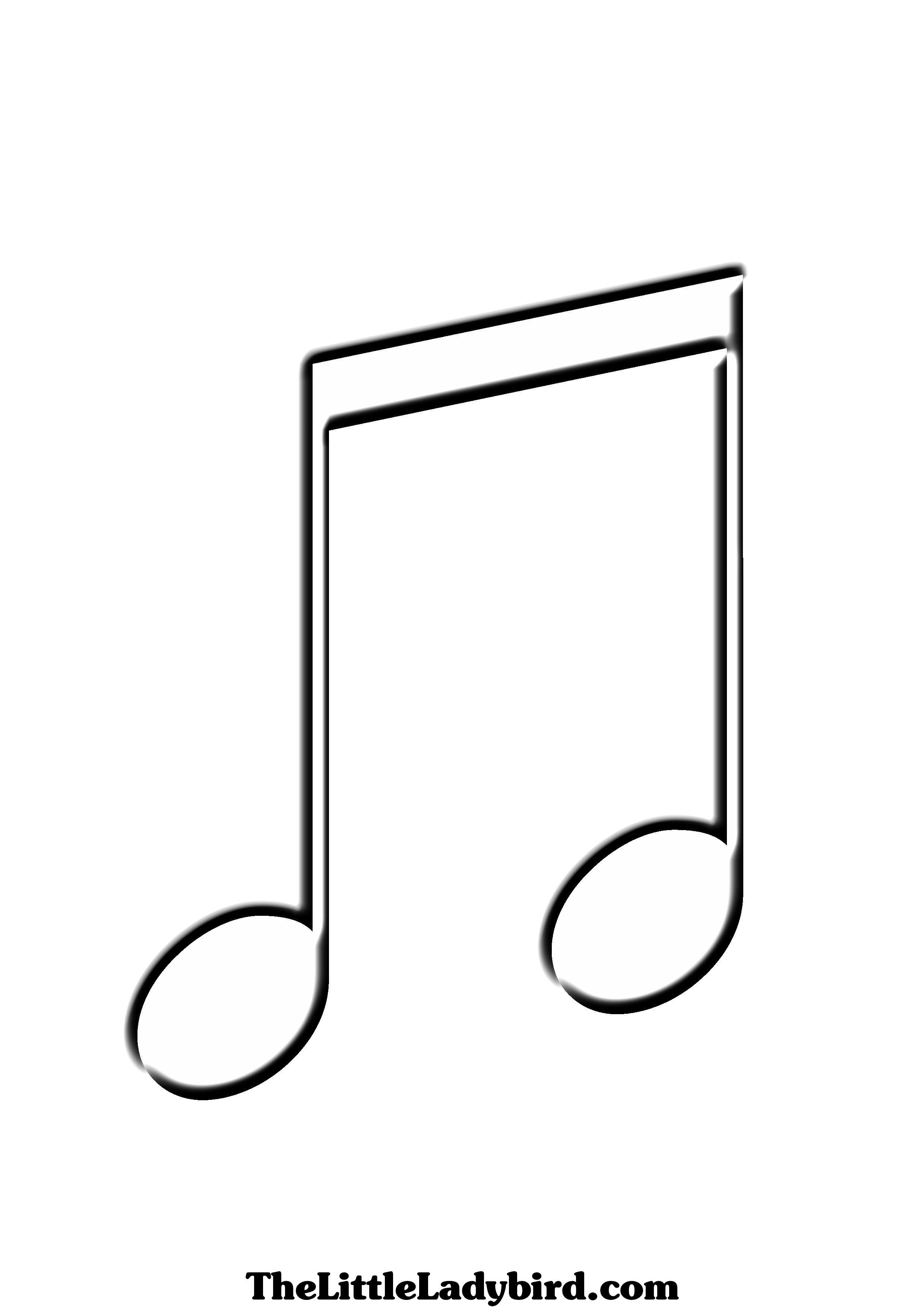 Note clipart sheet. Musical notes coloring pages
