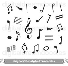 Note clipart sheet. Music notes musical clip