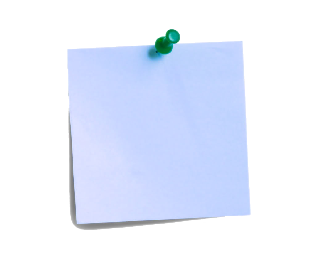 Blue post it note png. Free download clip art